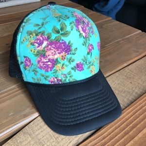Accessories - Floral SnapBack Hat